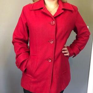 Ann Klein Red Fall/Winter Coat